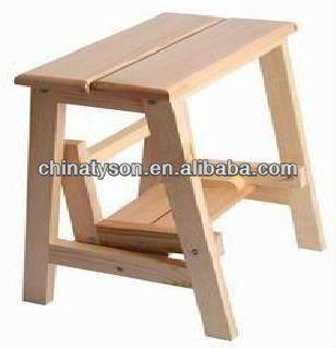 De madera peque a escalera peque o taburete de madera en - Taburete escalera madera ...