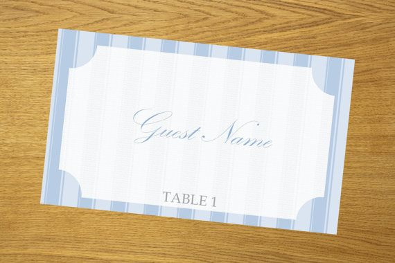 Place card DIY template download printable by WeddingTemplatesHub