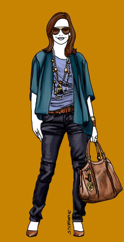 In Diesem Outfit Werden Alle Drei Blautöne Des Herbsttyps   Marineblau,  Petrol, Lapisblau