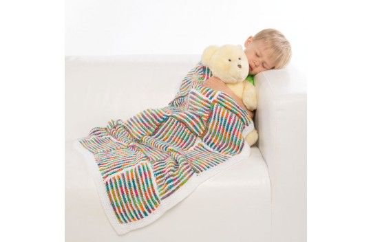 Premier Yarns Knit For Kids Checkerboard Baby Blanket Checkerboard