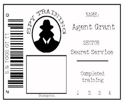 Secret Agent Id Badge  Games    Badges Spy And Spy Party