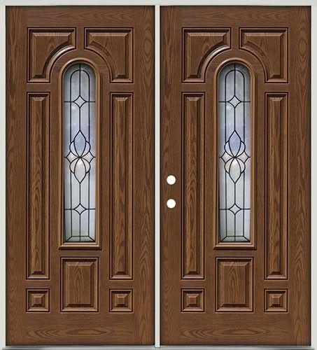 Pre Finished Oak Fiberglass Double Doors Center Arch 18 Another