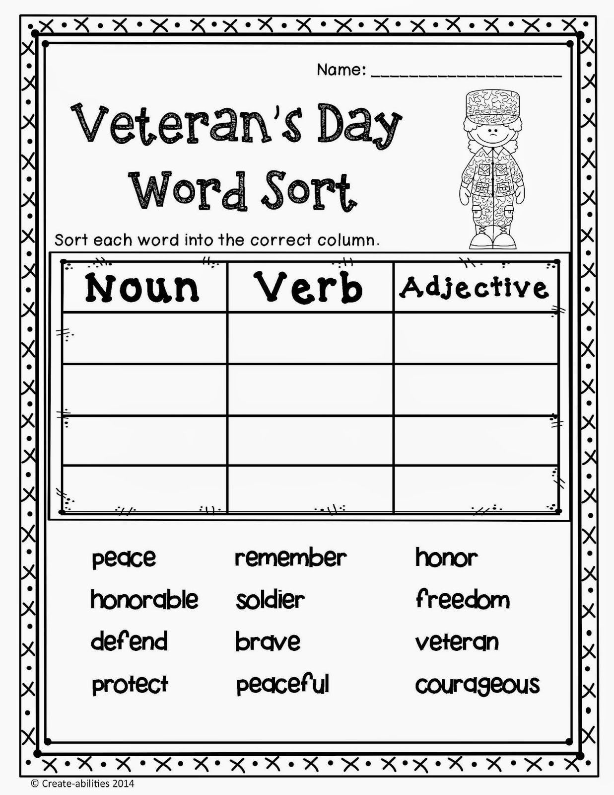 Memorial Day Worksheets For Kindergarten