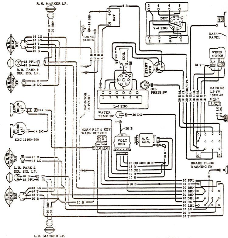 68 chevy starter wiring diagram