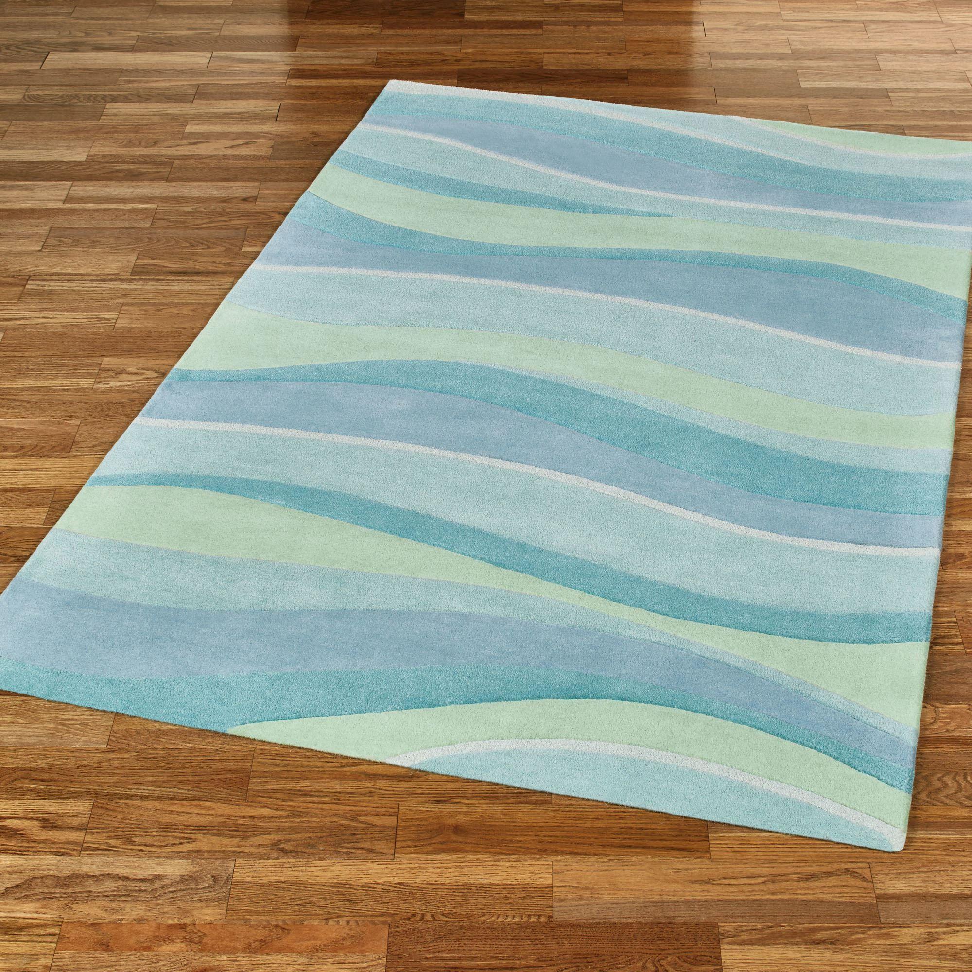 Seascapes Wave Design Coastal Area Rugs Coastal Area Rugs