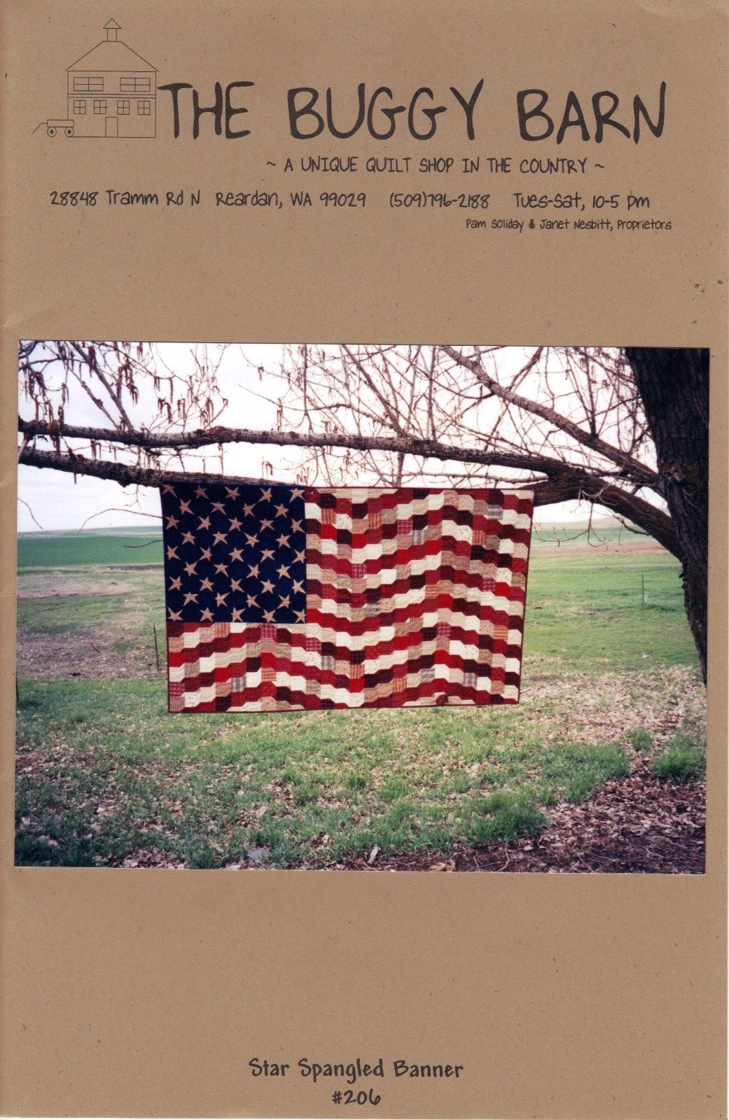 The Buggy Barn Star Spangled Banner Flag Quilt Pattern