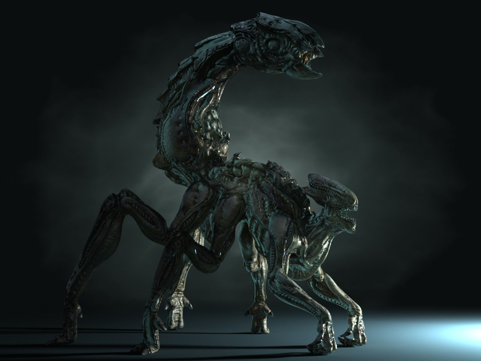 Xenomorph Vs Zerg 3D alien mutant...