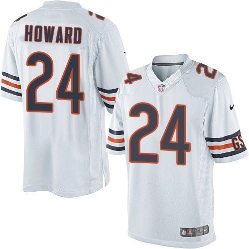 cf23e57cc726 ... Youth Nike Chicago Bears 24 Jordan Howard Limited White NFL Jersey ...