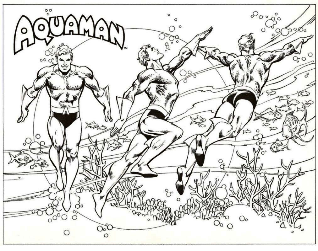 Aquaman From Justice League Coloring Pages Superhero Coloring Pages Drawing Superheroes Superhero Coloring