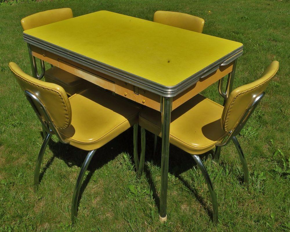 midcentury vintage vinylformicachrome drop leaf kitchen