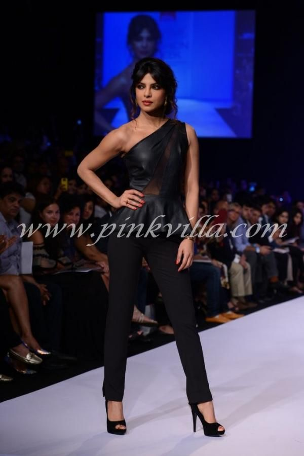 Priyanka Chopra walking the ramp at the launch of international #fashion brand #bisoubisou by Michele Bohbot for Reliance Trends!