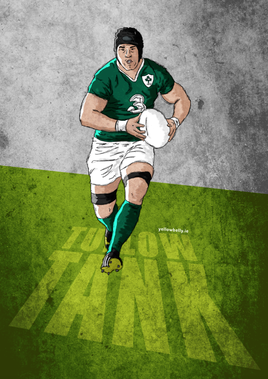 Sean O Brien Ireland Rugby Leinster Carlow Tallow Tank Sport Rugby Vintage Rugby Wallpaper Sport Illustration