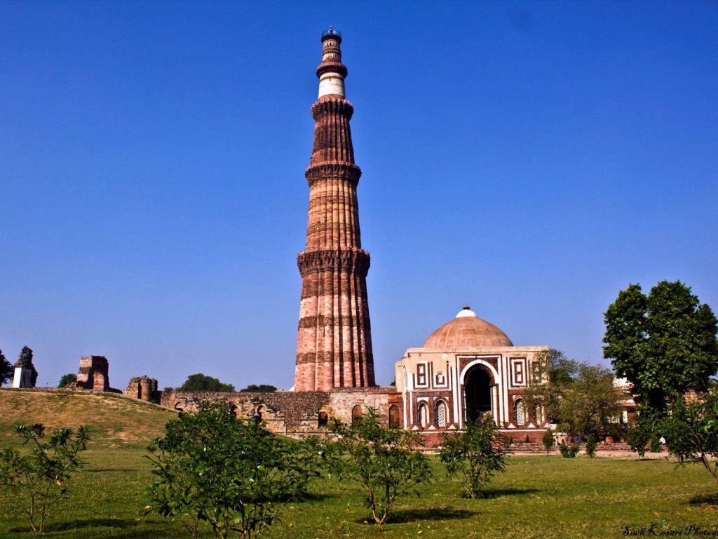 Qutub Minar New Delhi Cool Places To Visit Tourist Places Delhi Tourism