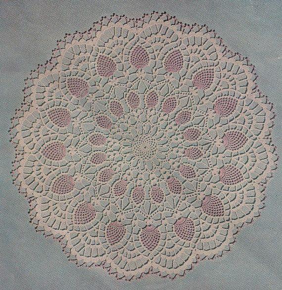 1956 Pineapple Vintage Crochet Doily Pattern PDF. $2.95, via Etsy ...