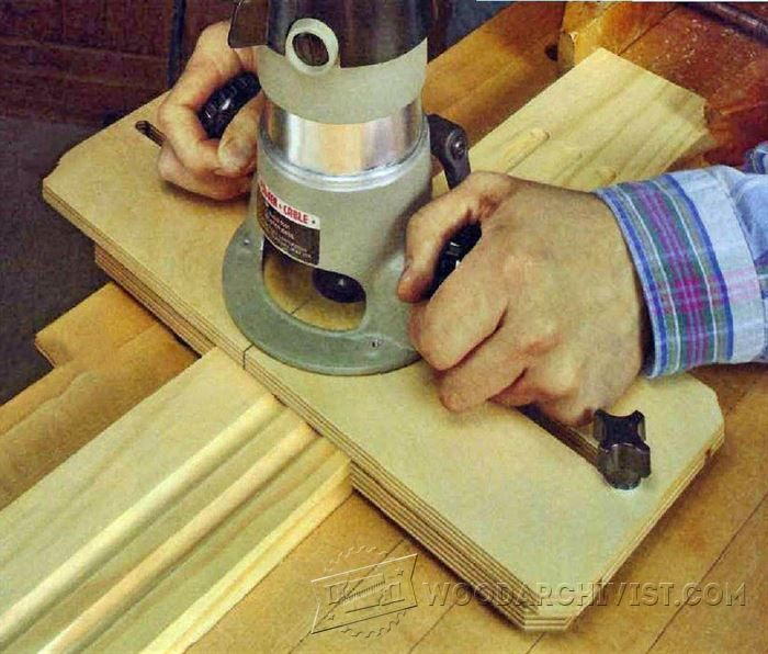Router fluting jig woodworking tips and techniques for Wood router ideas