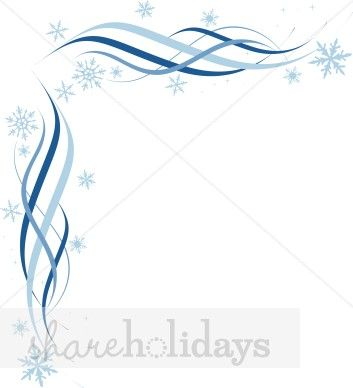 Winter Corner Border Borders - The Printable Holiday ( 17 found
