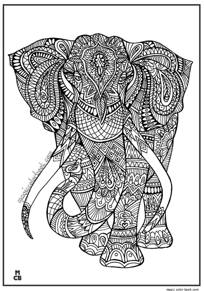 Adult bear archives magic color book coloring book for Coloring pages patterns animals