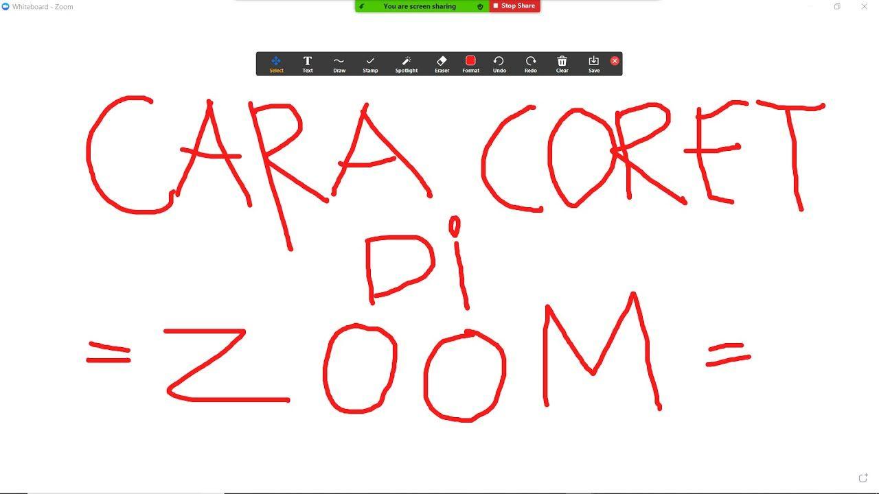 Cara Mencoret Coret Di Zoom Pake Laptop Aplikasi