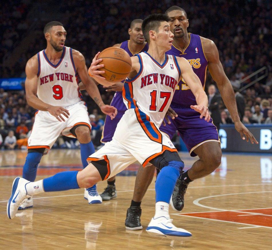 NY Knicks Jeremy Lin (#17). NBA