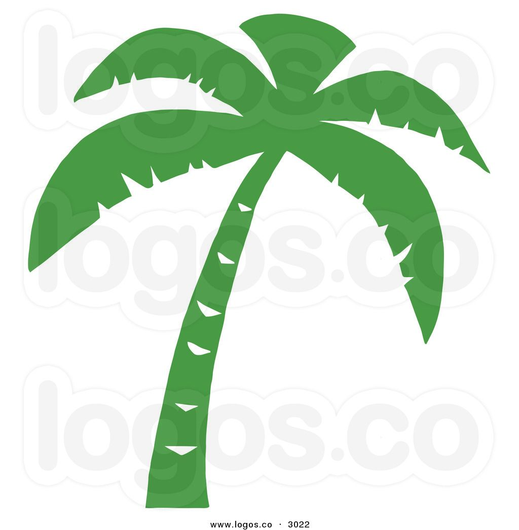 royalty free vector of a green palm tree logo by hit toon rh pinterest com Sunset Palm Tree Logo Palm Trees On the Beach