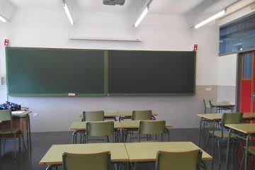 Jornada de huelga en el trabajo, tristeza por ver las aulas vacias.