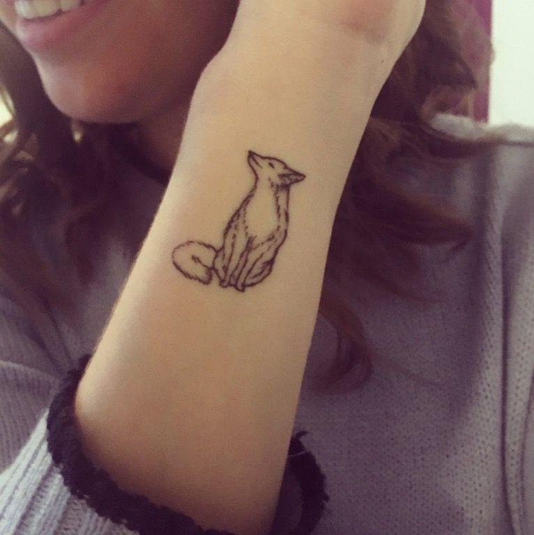 Permanent Fox Friend Foxes Tattoos Small Fox Tattoo Fox