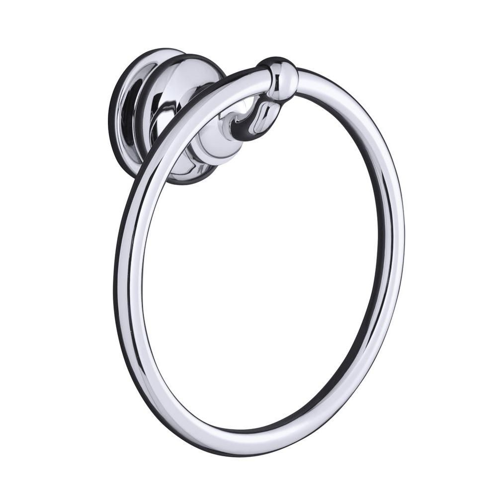 Kohler Fairfax 7 1 2 In Towel Ring In Polished Chrome Towel Rings Rings Bath Accessories
