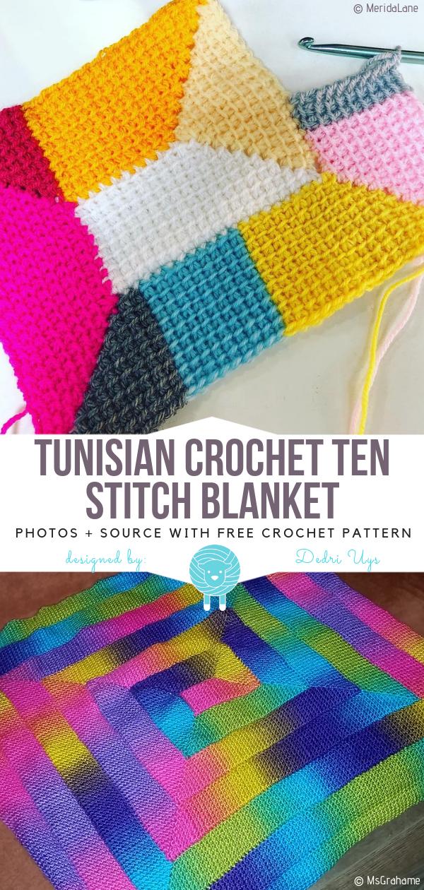 Tunisian Crochet Blankets Free Patterns - Free Crochet Patterns #tunisiancrochet