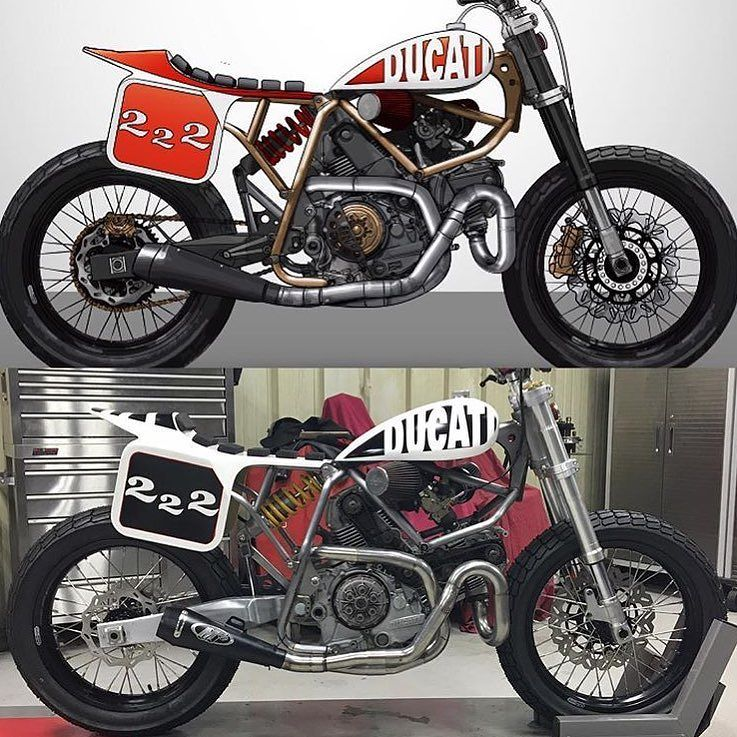 ducati by rocking a custom frame and motor for sale drawing by - Motorcycle Frame For Sale