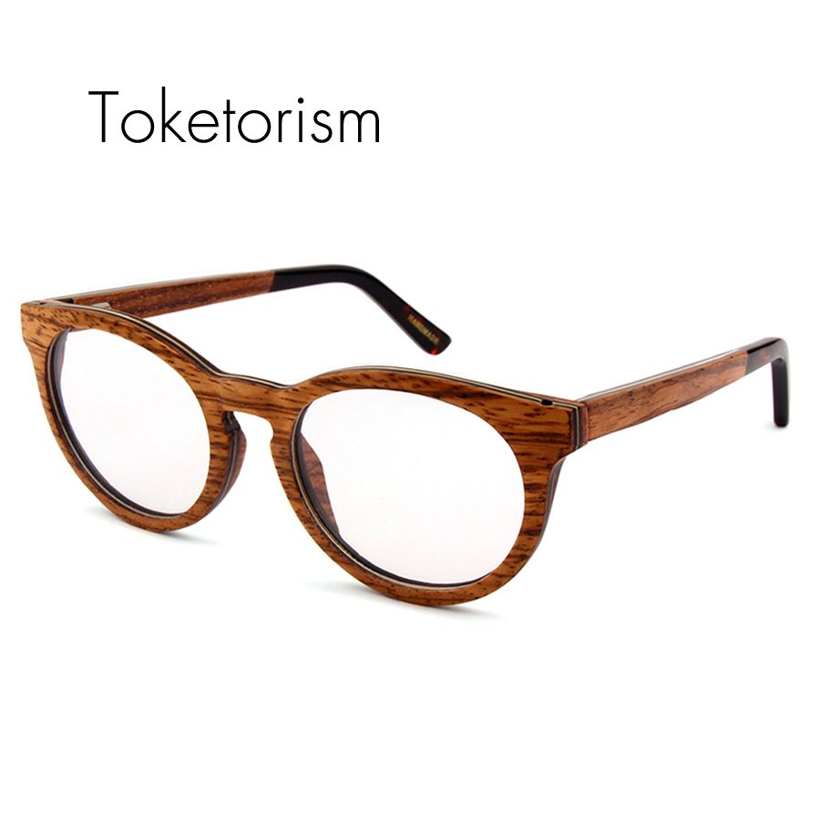 High quality fashion wood glasses clear lenses optical frame ...