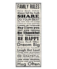 Family Rules Canvas Art Helping Stepfamilies And Single Pas Build Hy Wall Decal World Market