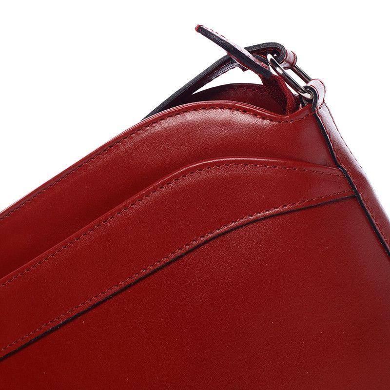 9f8560fb3cd Dámská kožená crossbody kabelka červená - ItalY Heidi