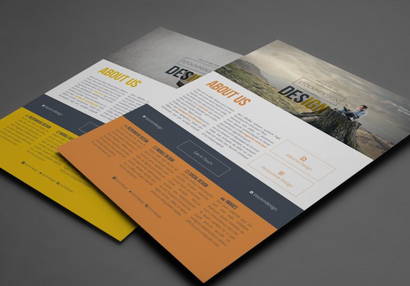 Clean Corporate Flyer Template  Mind Of Art  World Of Graphic