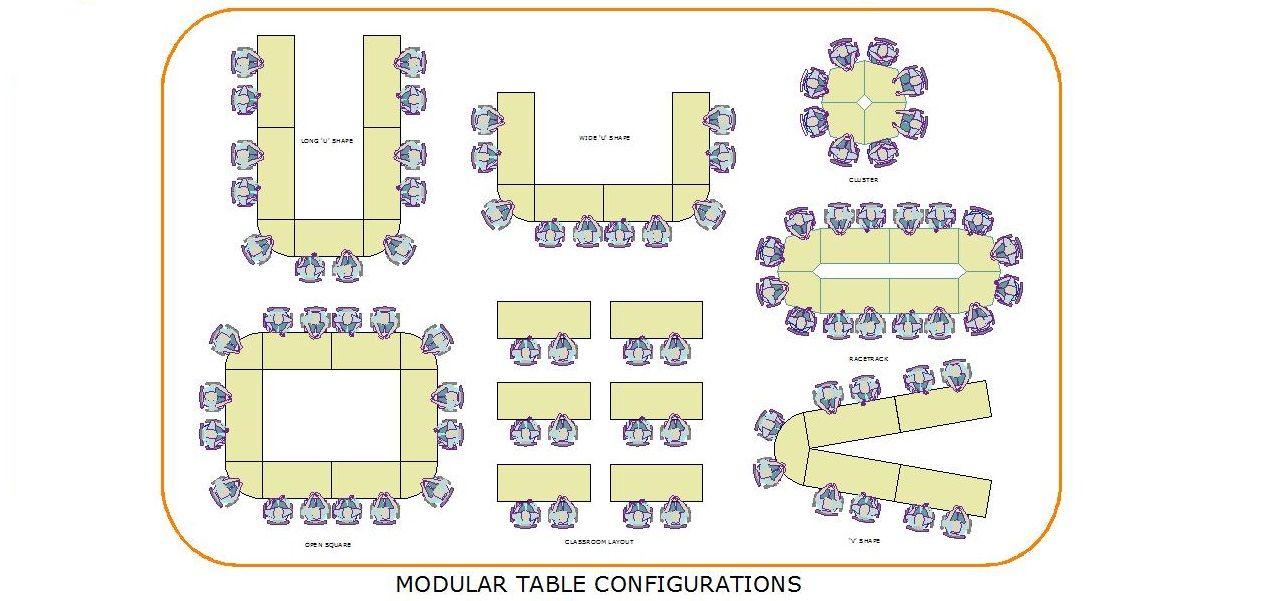 Modular Table Configurations Meeting Room Board Room
