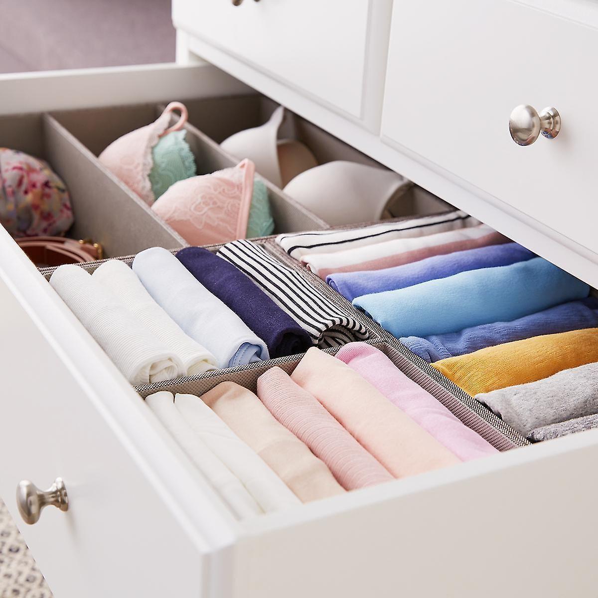 5 x 5 Grey Drawer Organization Starter Kit  Dresser drawer