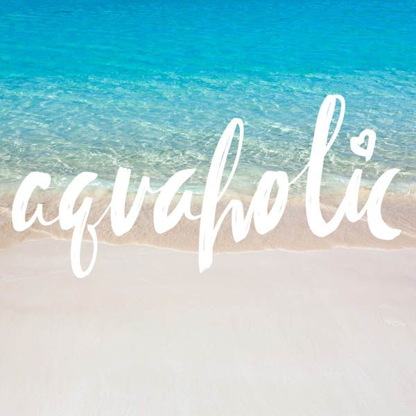 Beach Quotes For Instagram Are you an aquaholic? #beachquotes #beachlife #quotes #beachliving  Beach Quotes For Instagram