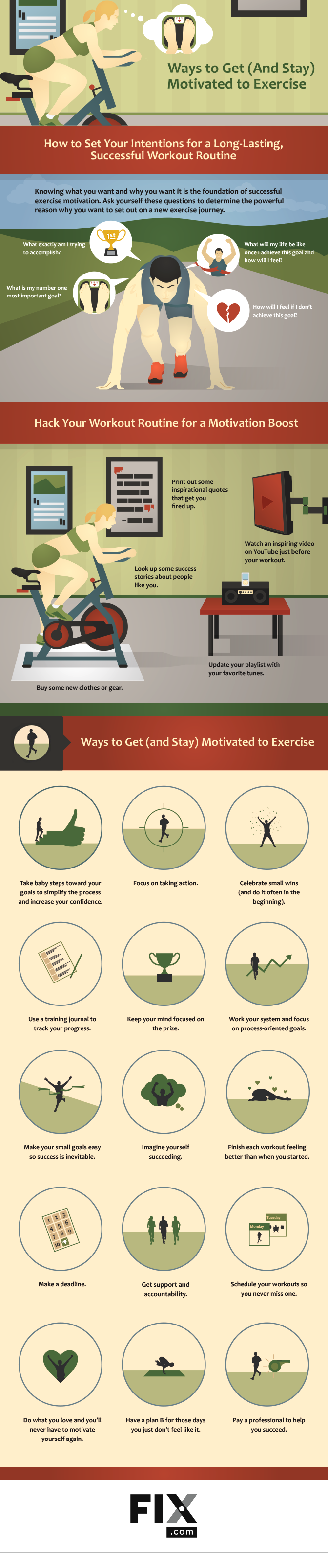 Ways to Get (and Stay) Motivated to Exercise #infographic