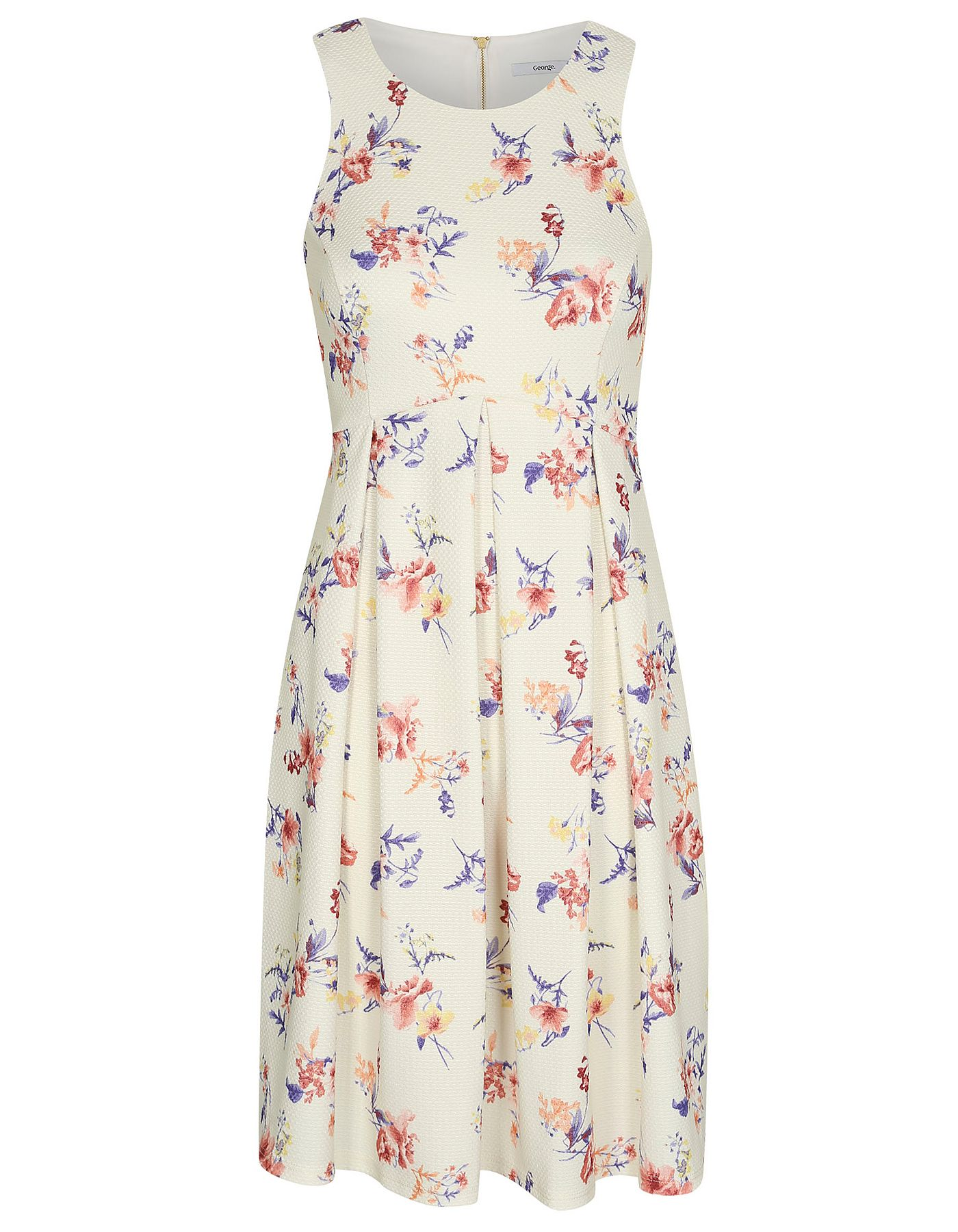Floral Print Fit and Flare Dress | Women | George at ASDA | Fashion ...