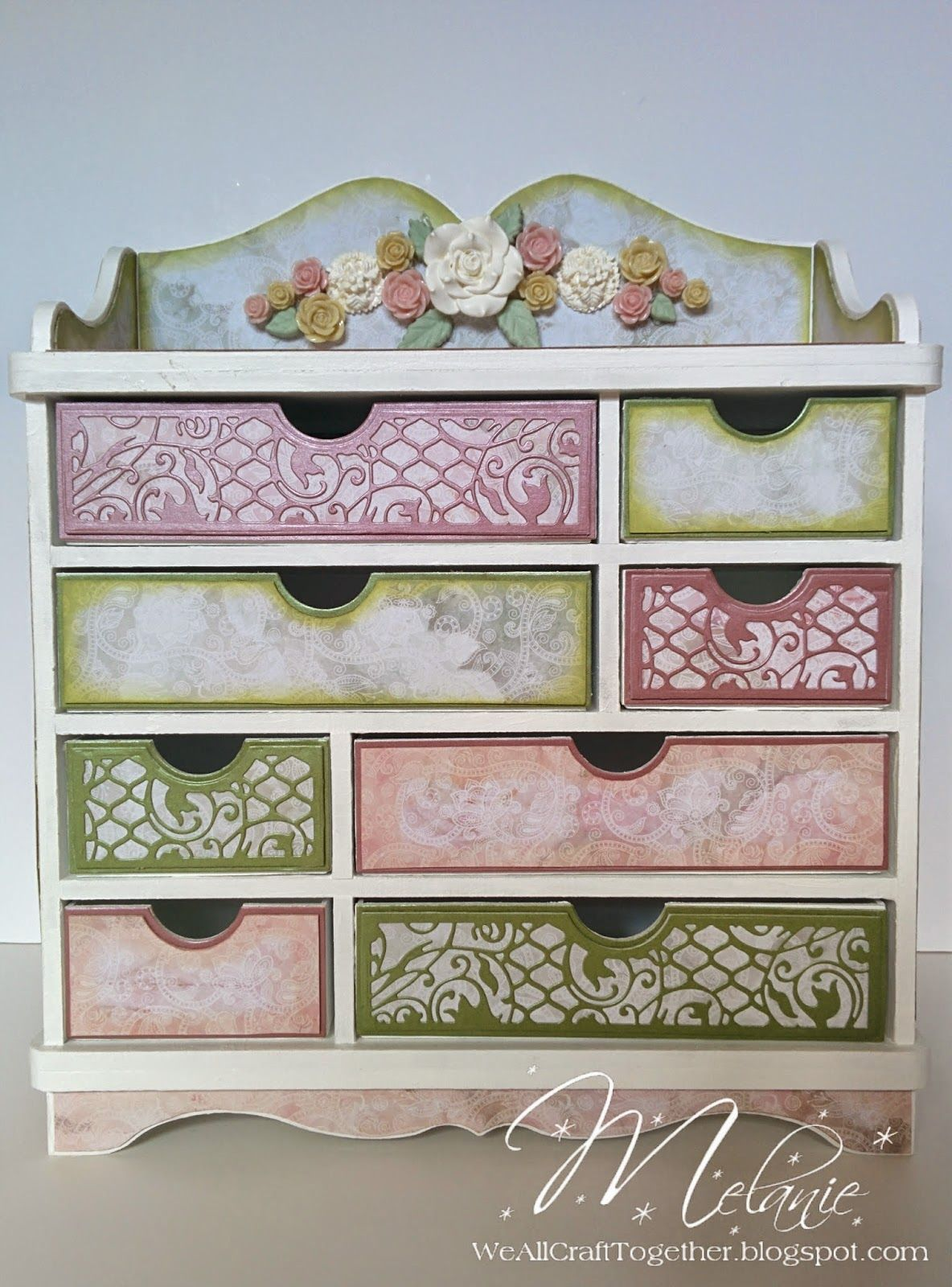We All Craft Together ...: Tonic Verona Storage Unit and Memory Book for Mums 80th
