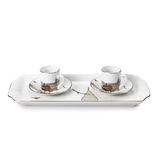 Turkish Coffee cups with Istanbul theme.  Bernardo'nun Istanbul temali Turk Kahvesi fincanlari.