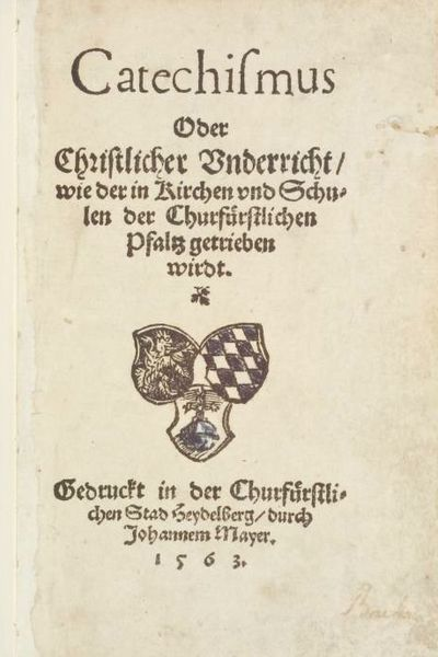 File Heidelberger Katechismus 1563 Jpg Wikipedia The Free Encyclopedia Catechism Heidelberg Confessions