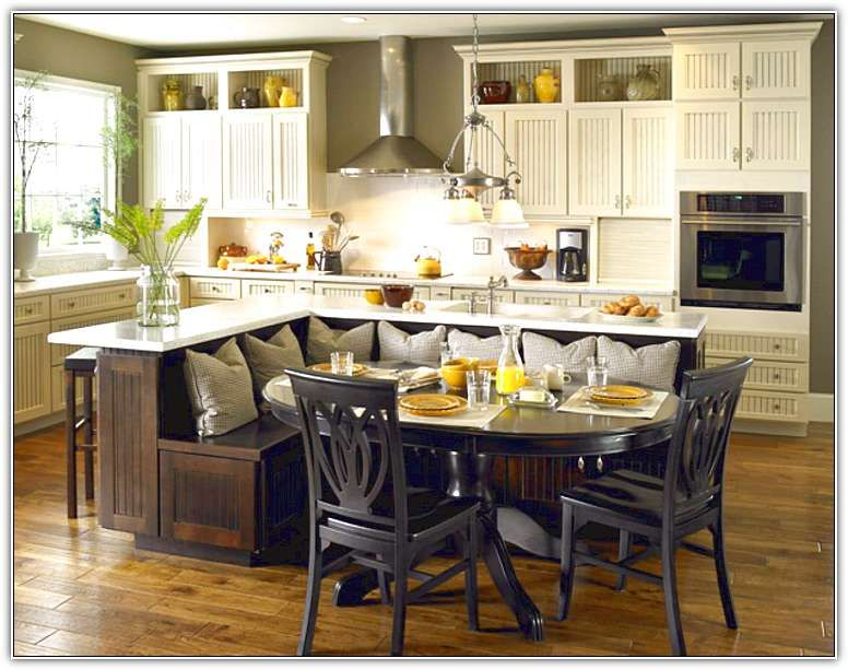 Kitchen Dazzling Island With Bench Seating Home Design Ideas Photo Of