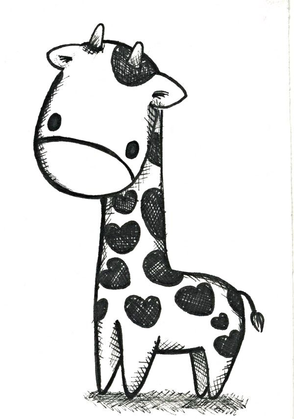 Cute Animal Pictures To Draw : animal, pictures, Little, Sweet, Sketch, Animal, Drawings,, Giraffe, Drawing,, Drawings