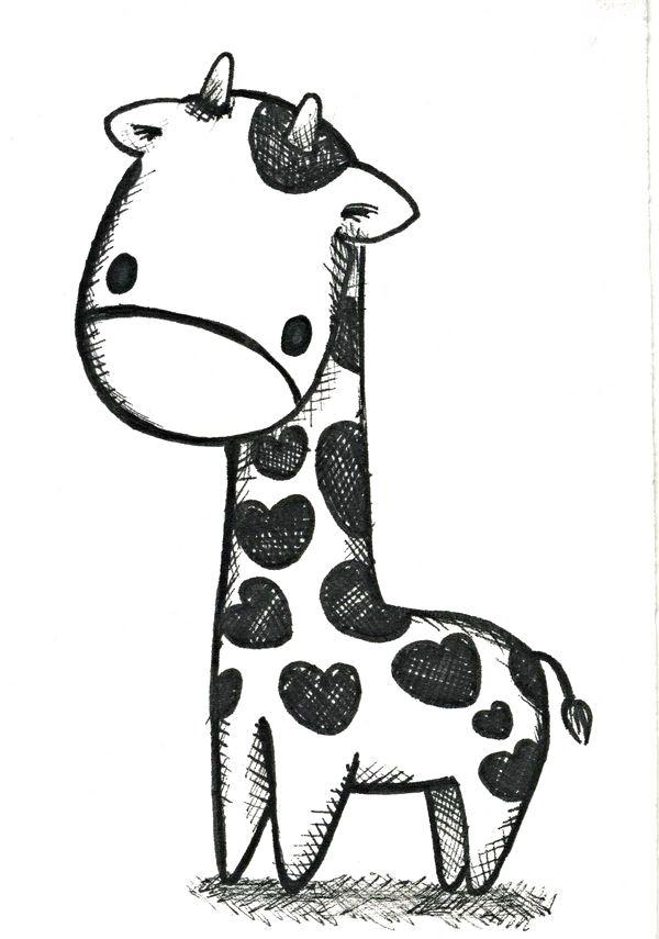 Little Sweet Baby Sketch Baby Animal Drawings Giraffe Drawing Cute Drawings