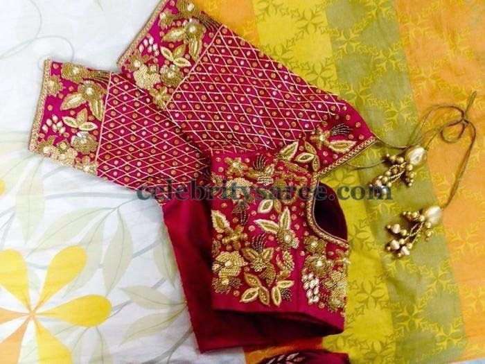 how to do cut work embroidery on sarees
