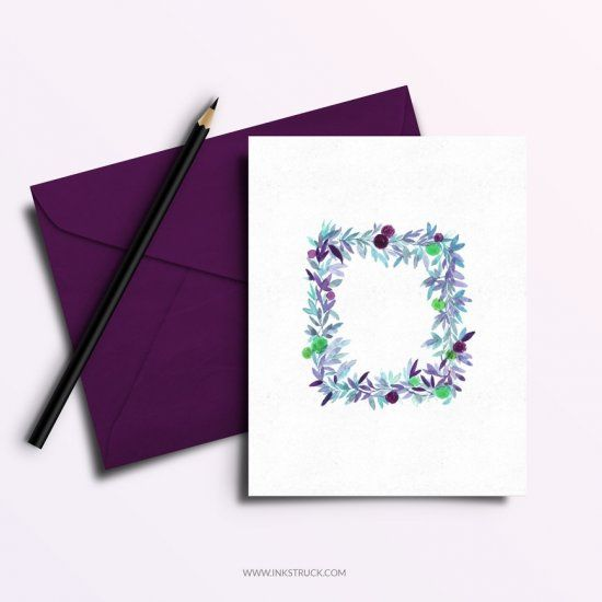 Download a free watercolor greeting card printable for those celebrating and not celebrating the festival of Eid.
