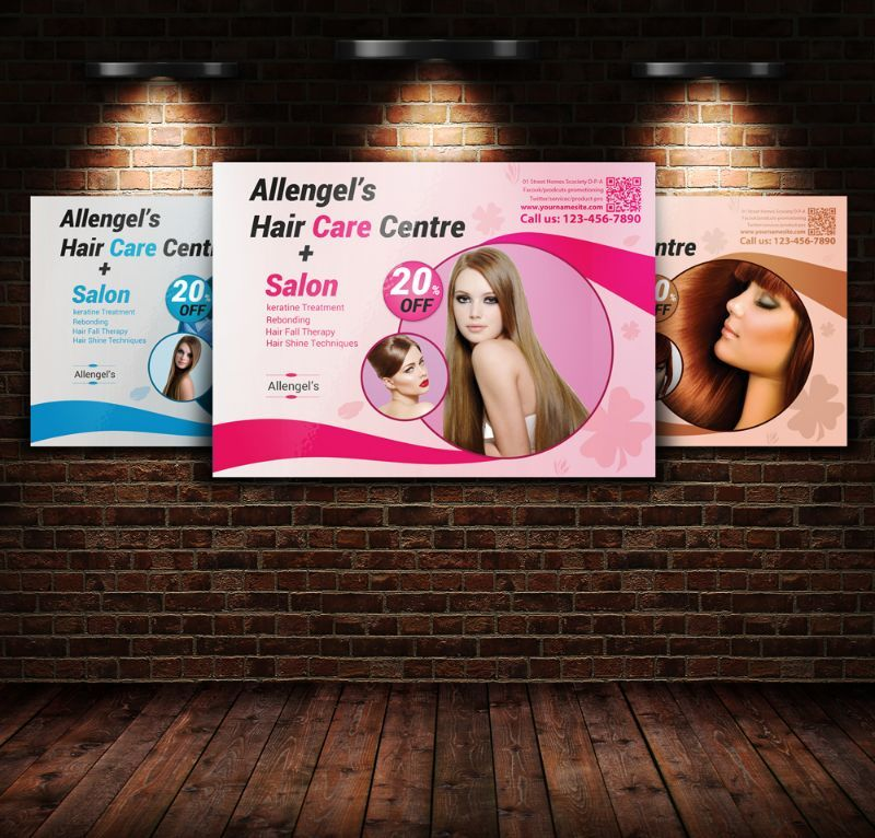 HairSalonFlyerTemplatePsd   Beauty Salon Flyer Template