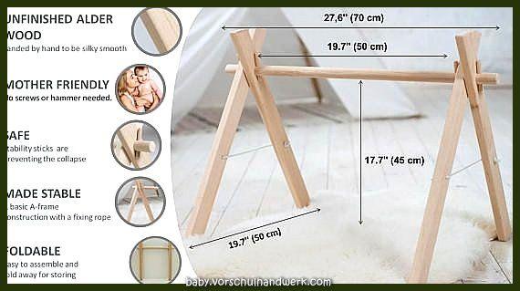 Holz-Kleinkind-Fitness-faltbarer Rahmen von Spiel -, Fitness -, Aktivitäts-Gym gender-neutral, anhän...