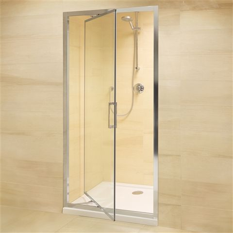 The Melanie In Fold Shower Door Has A Special Hinge Allowing Half