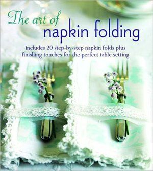 """The Art of Napkin Folding."" I want a stylish table for the holidays! #MagicalHoliday #indigo"